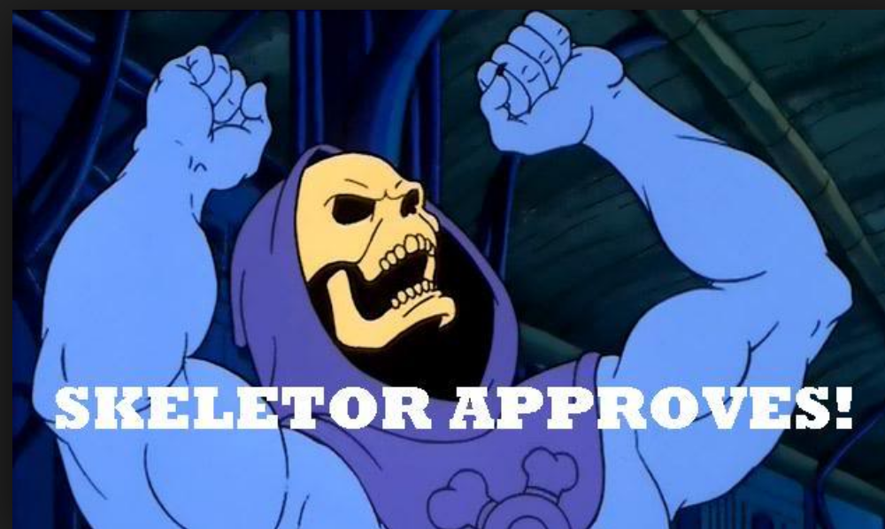 Skeletor approves!